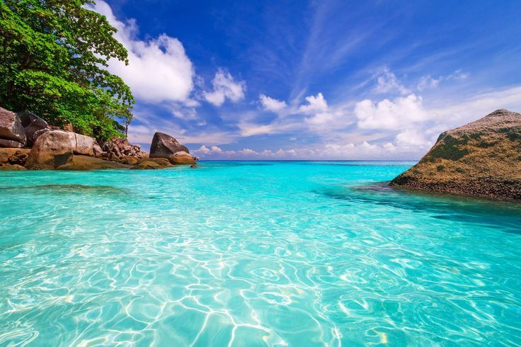 Tropical Scenery Of Similan Islands Thailand Beach Wallpaper Beach Landscape Ocean Wallpaper