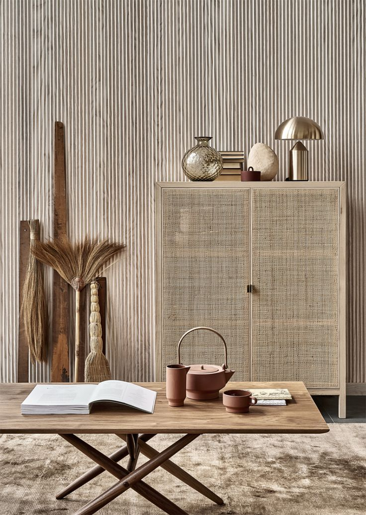 A Merry Mishap: A minimal home in rattan and rust