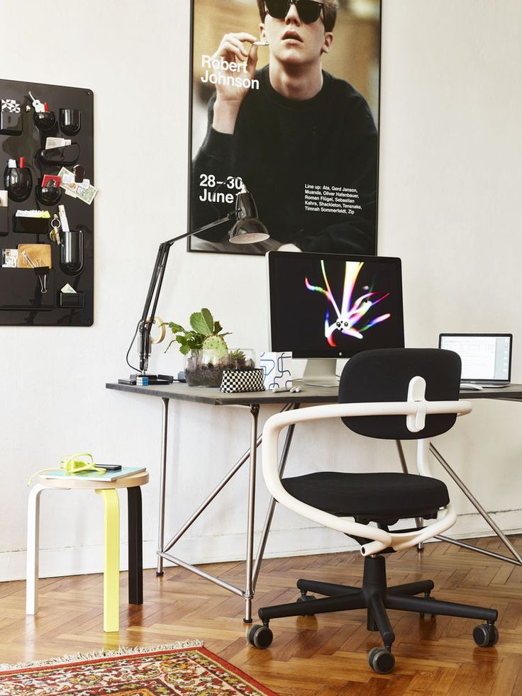 Your Office at Home in Berlin using the Allstar by Konstantin Grcic.