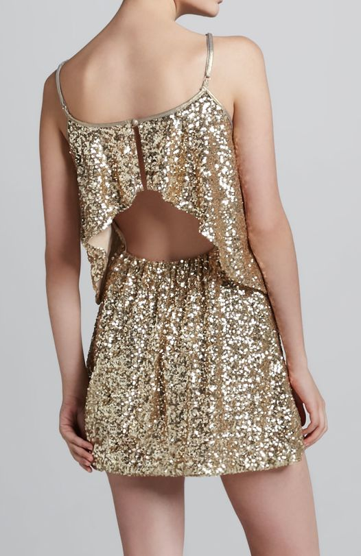 Sparkle tiered dress