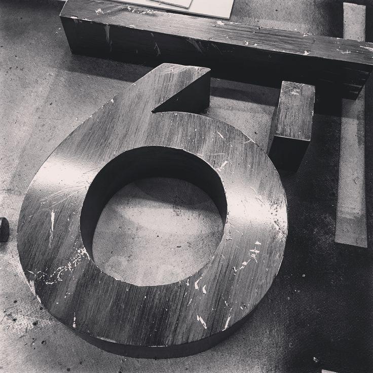 Custom #distressed #metal back lit #channelletter  #illuminated #sign box. #signs #signshop #signlove #fabrication #custombuild #cnc #welding #blackandwhite