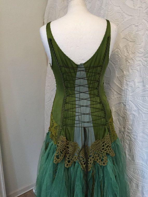 Robe de mariée bohème vert et turquoise turquoise par RAWRAGSbyPK