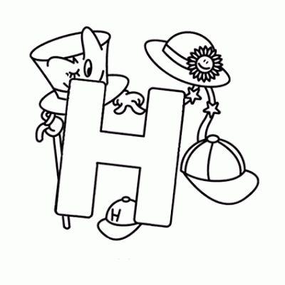 Belajar Mewarnai Gambar Huruf H Untuk Anak Anak