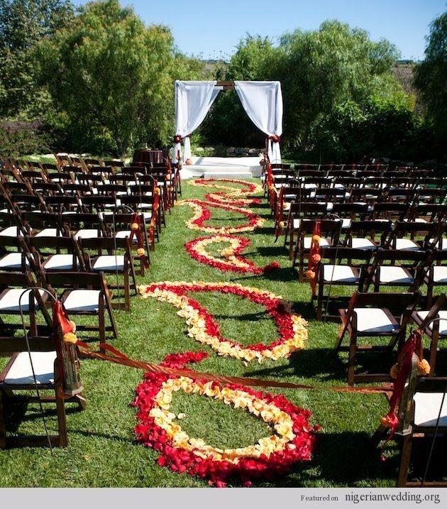 25 Outdoor Wedding Ceremony Decoration Ideas  Dani Keathley I found paisley!!!
