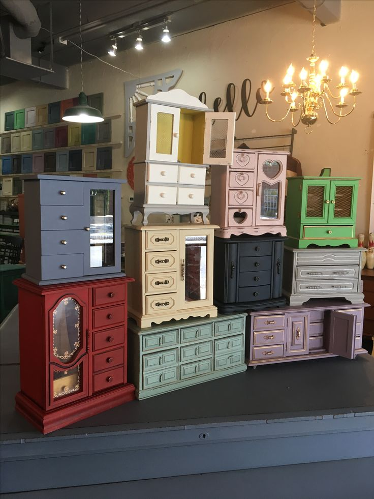 Jewelry boxes painted with Chalk Paint® by Annie Sloan