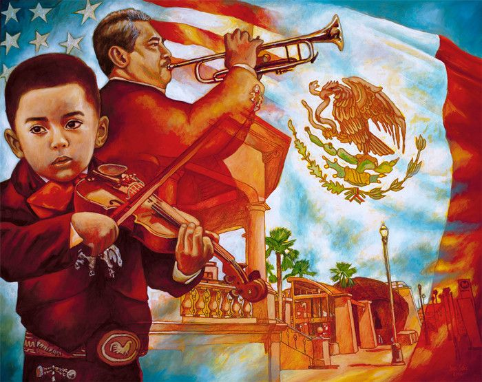 17 best images about rincon de arte mexicano on pinterest for Mural mexicano