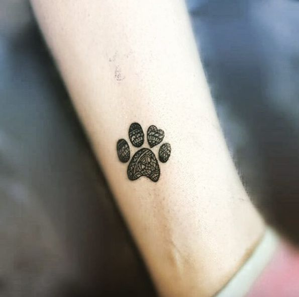how to get your dogs paw print for a tattoo