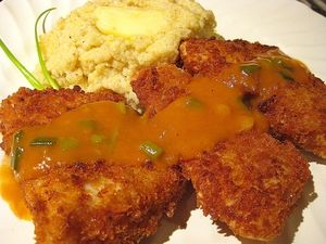 Crispy Cod with Three Pepper Gravy - Doug DuCap