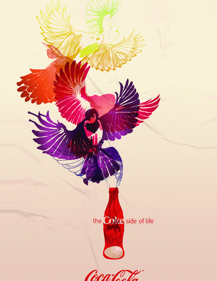 Poster by Mira Nameth for Coca-Cola.