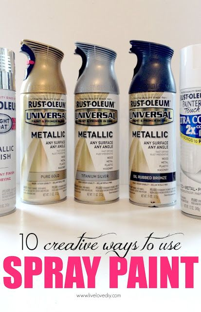 10 creative ways to update your home decor with spray paint!