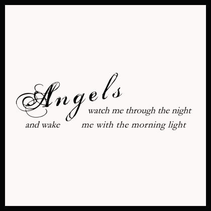 angel wake morning light