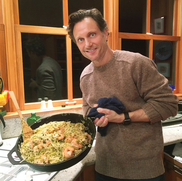 This month, Scandal's cool commander-in-chief stars in the big-screen thriller The Belko Experiment. But there's nothing scary about Goldwyn's kitchen skills—take a peek as he takes on our pasta night.