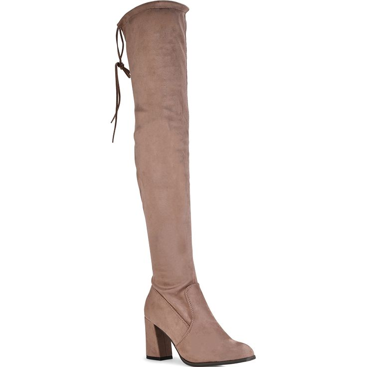 Pink suede over the knee boot Lets Walk JN77-02