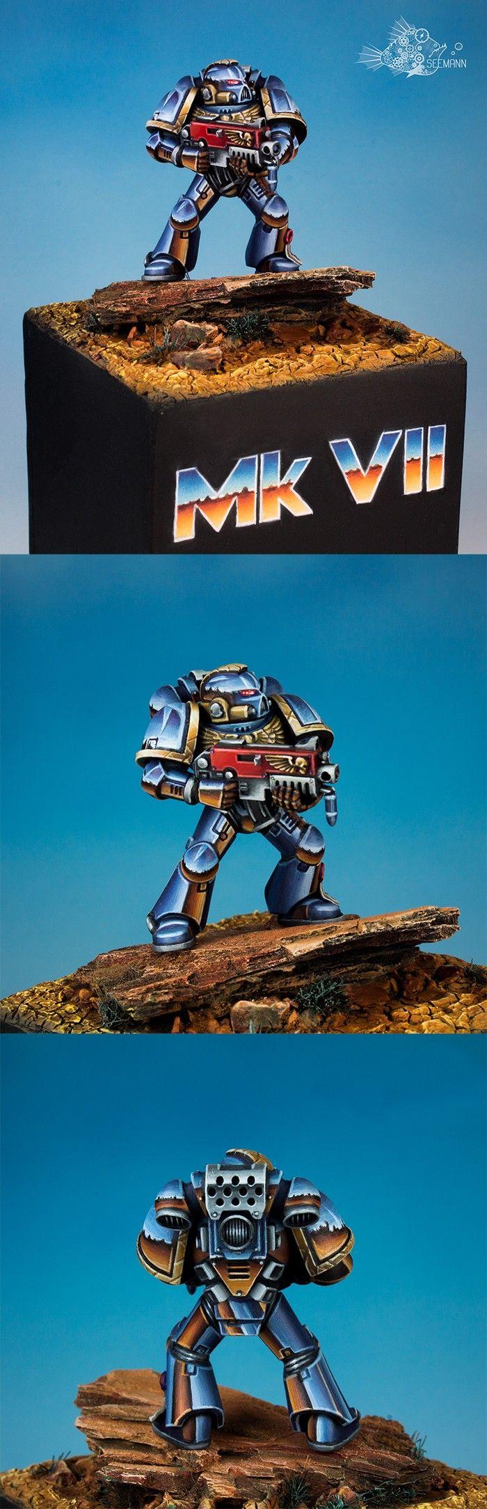 Tactical Space Marine. Chrome version. - Forum - DakkaDakka | We give you a 2+ Armor save against sucking.