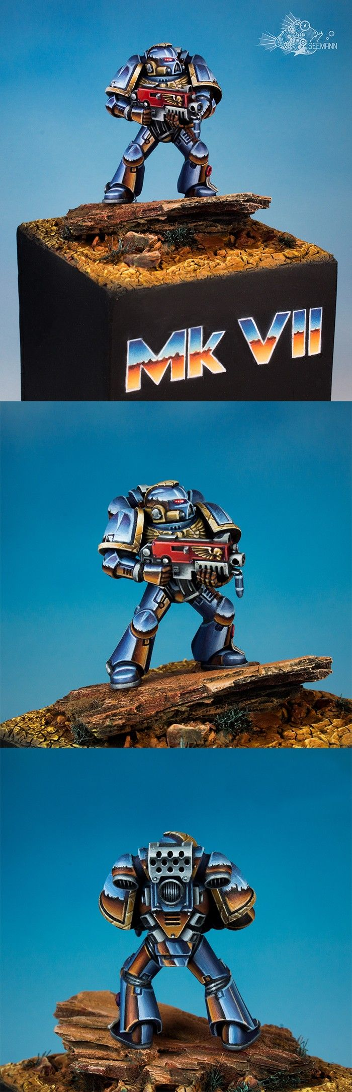 Fancy Blue Metallic Spacemarine #NMM