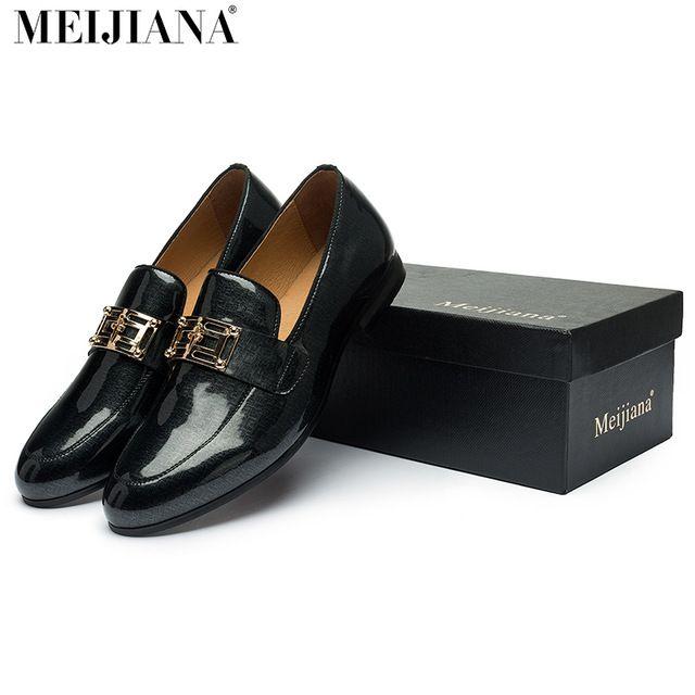 Cheapest Price $44.50, Buy 2017 men leather shoes MeiJiaNa Brand handmade comfortable formal dress men flats