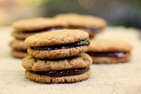 Flourless Peanut Butter and Jelly Cookies | With Style and Grace ...