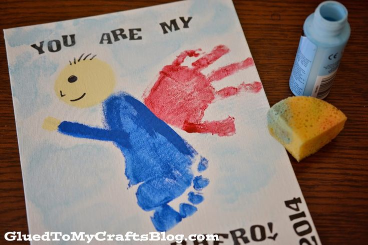 father's+day+super+hero+hands+prints+for+babies   You Are My Superhero {Father's Day Gift Idea}