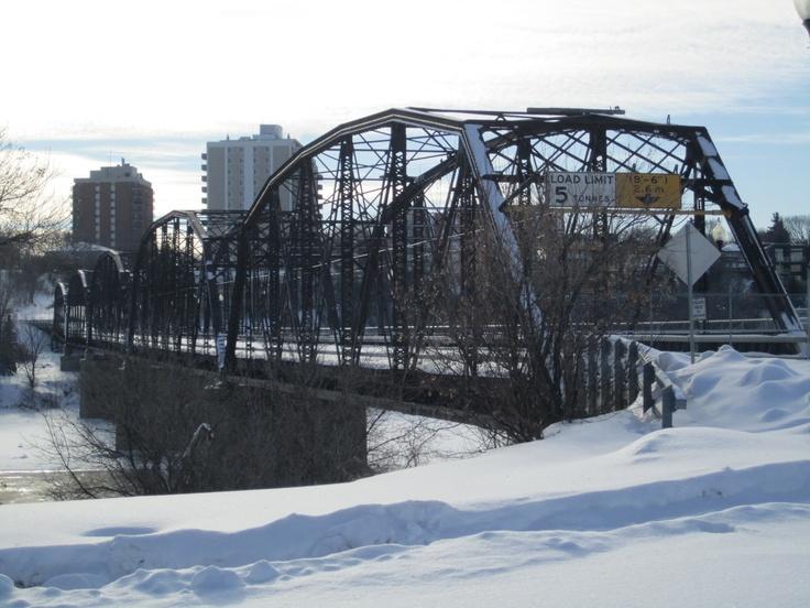 Saskatoon Traffic Bridge  This is history, it is being torn down as it was falling apart. :(