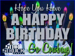 Dallas Cowboys Happy Birthday