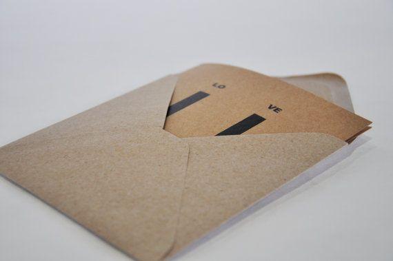 U.+VE+LO+Piazza+Card++busta.+Carta+riciclata.+di+IntoTheTreees