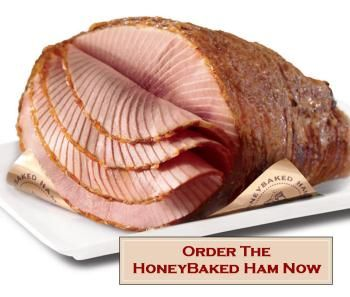 Main dish - Honey Baked Ham. Perfect for a spring party.