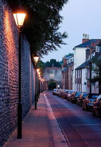 Empty streets of Winchester, Hampshire, England