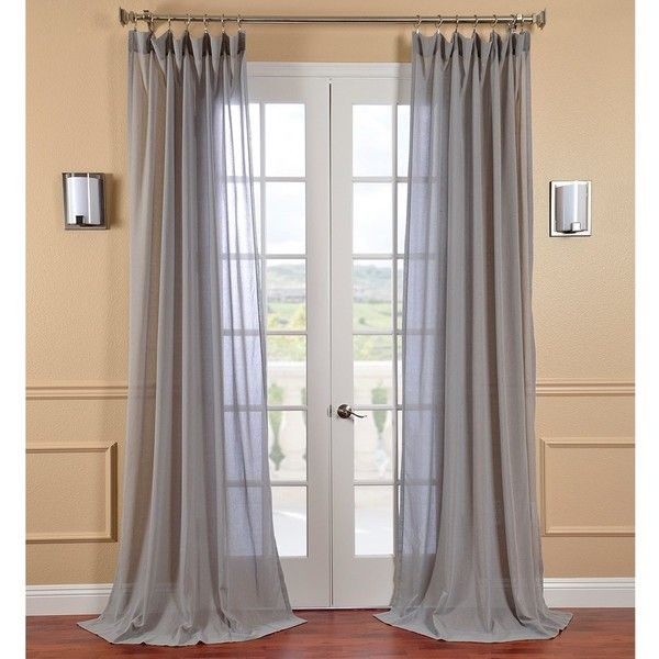 Exclusive Fabrics Nickel Faux Linen Sheer Curtain Panel ($28) ❤ liked on Polyvore featuring home, home decor, window treatments, curtains, grey, sheer curtains, patterned sheer curtains, sheer curtain panels, gray curtains and gray sheer curtains