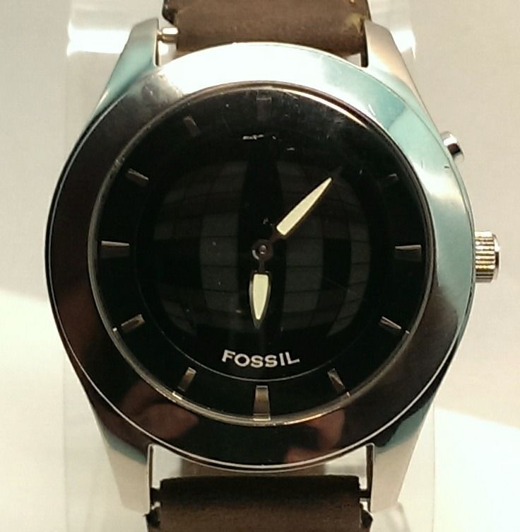 Mens FOSSIL JR8122 Big Tic Stainless Steel Distressed Brown/Black Leather #Watch  $39.99 USD #Fossil #Casual www.iiwiiMerchandise.com