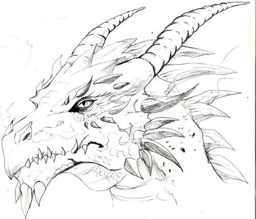 Cool Dragon Drawing | We Heart It | dragon