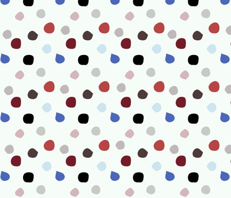 Painted Dots (misty) fabric by mariden on Spoonflower - custom fabric