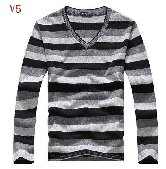Men's Sweaters, Hot Retail v-neck
