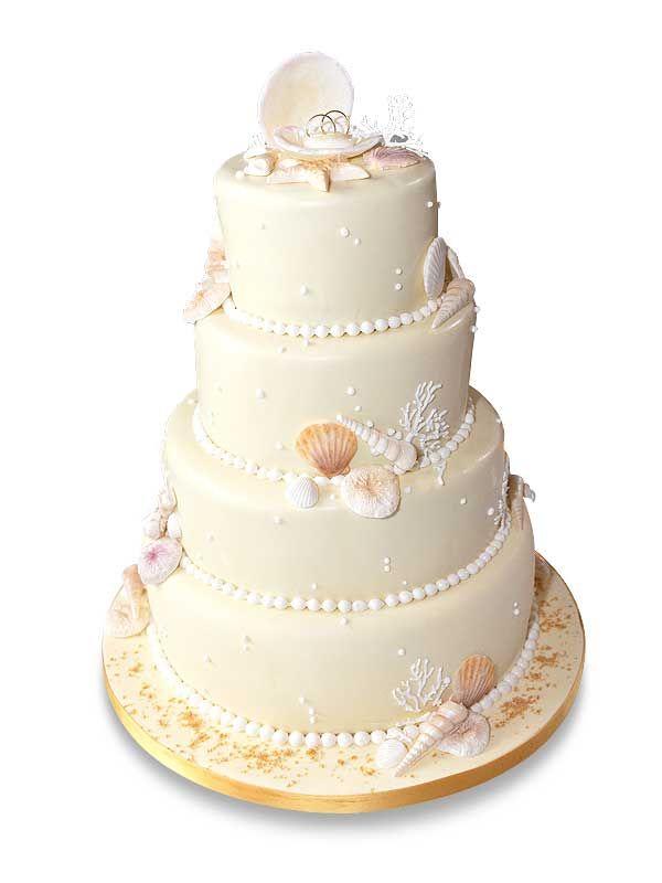PuurTaart :: Taartengalerij - Bruidstaart - Wedding cake Sea of Love