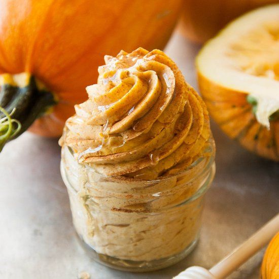 Whipped Cinnamon Pumpkin Honey Butter...the perfect autumn spread for rolls, toast, muffins, ANYTHING you put butter on!