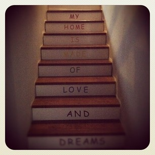 Rainbow stairs in our home - My home is made of love and dreams