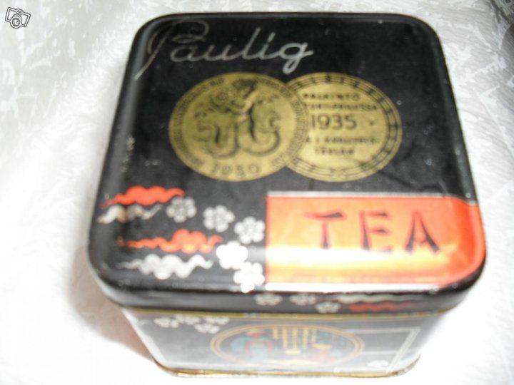 Paulig vanha 100 g:n teepurkki, Keittiötarvikkeet ja astiat ...