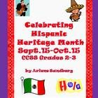 """$ On Sale!This is a 64 page ELA/Social Studies Thematic Unit on Hispanic Heritage Month for Grades 2-3. It includes a Shared Reading Book, 2 sets of Vocabulary Picture/Definition Cards, 2 Reading Texts, @ Sets of Comprehension Questions, Hispanic Country Report Graphic Organizers, Paragraph Graphic Organizer, .Hispanic Country Report Cover and Pages, """"Ticket Out"""" Cards, English/Spanish Word Cards and Activities..."""