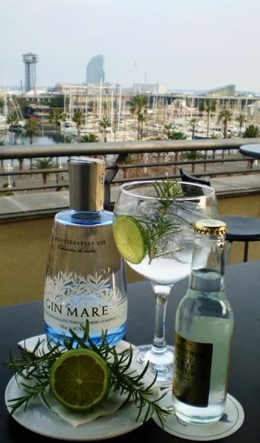 Cocktail bar La Terrassa del Duquesa Barcelona , hotel Duquesa de Cardona. Gin Tonics a la carte