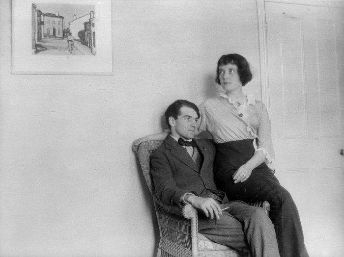 Katherine Mansfield with then husband John Middleton Murry, October 1913