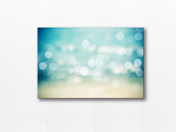 I want THIS - really large!  <3 <3 <3  beach canvas art bokeh photography canvas by mylittlepixels, $70.00