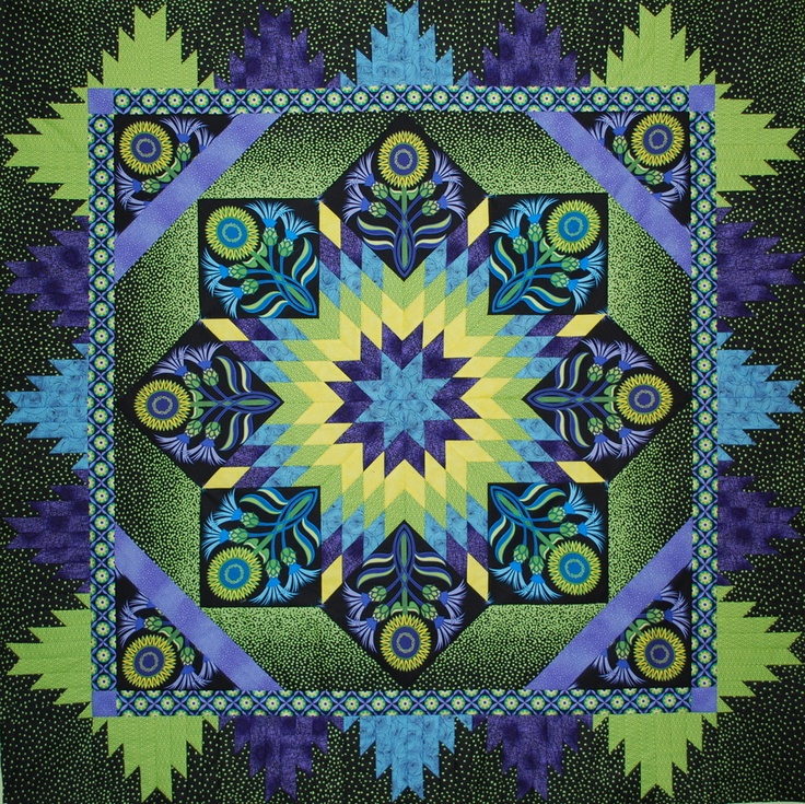 blue and green: Colors Combos, Stars Quilts, Mountain Patterns, Quilts Blocks, Patterns Värviõpetus, Gorgeous Quilts, Colors Combinations, Www Thequiltshow, Mandala
