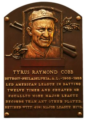 Ty Cobb, CF, Detroit Tigers, Baseball Hall of Fame   1936 first class of the hall of fame!