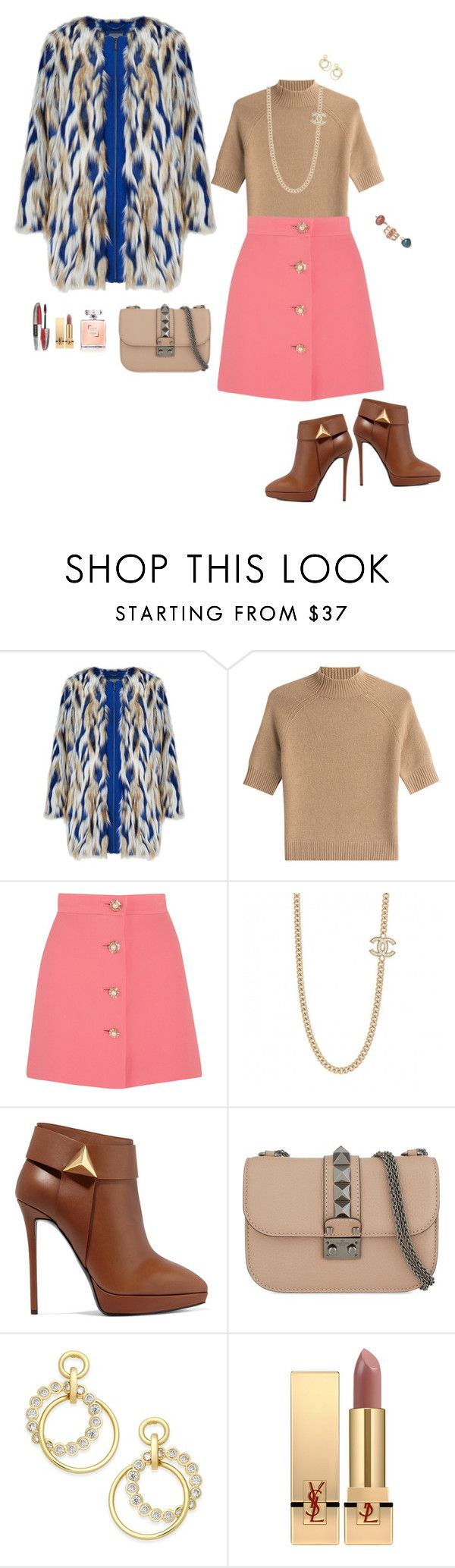"""""""Dos focos de color."""" by srtagraham ❤ liked on Polyvore featuring Theory, Miu Miu, Giuseppe Zanotti, Valentino, Kate Spade, Yves Saint Laurent and L'Oréal Paris"""