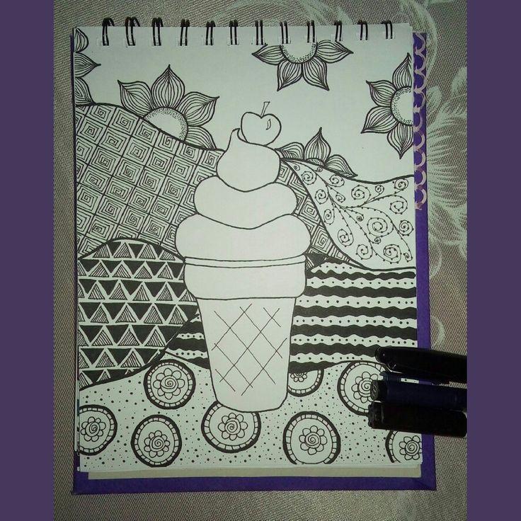 Helado/Icecream  zentangle