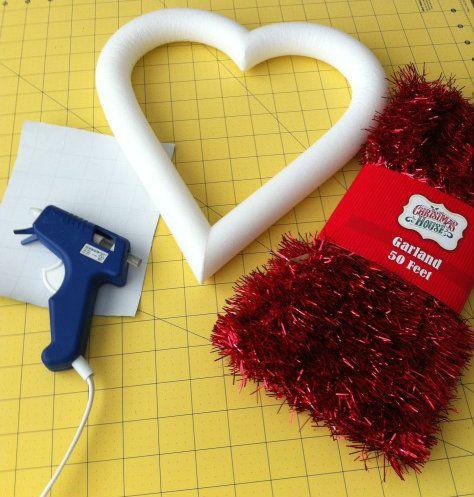 Easy Dollar Tree DIY Valentine's Day Wreath