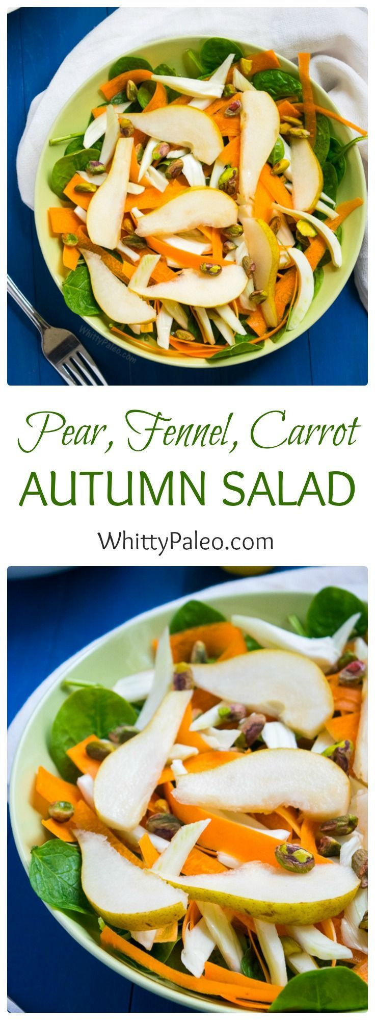 Paleo Raw Autumn Pear Salad is a completely vegan, healthy, seasonal and simple…