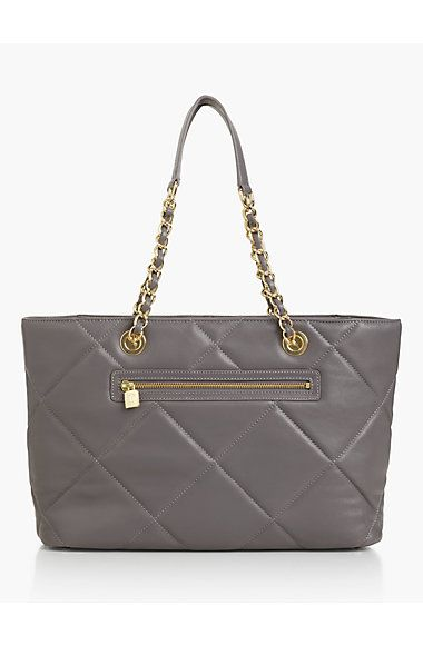 Quilted Leather Tote Bag - Talbots
