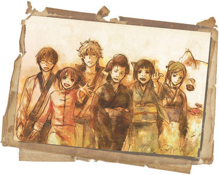 Anime,аниме,Gintama,Гинтама,catherine(Gintama),Kagura,Otose,Sadaharu,Sakata Gintoki,Gintoki Sakata,Shimura Shinpachi,Tama(Gintama),Anime Paint,Anime Art,Аниме арт, Аниме-арт,Tama (Gintama)