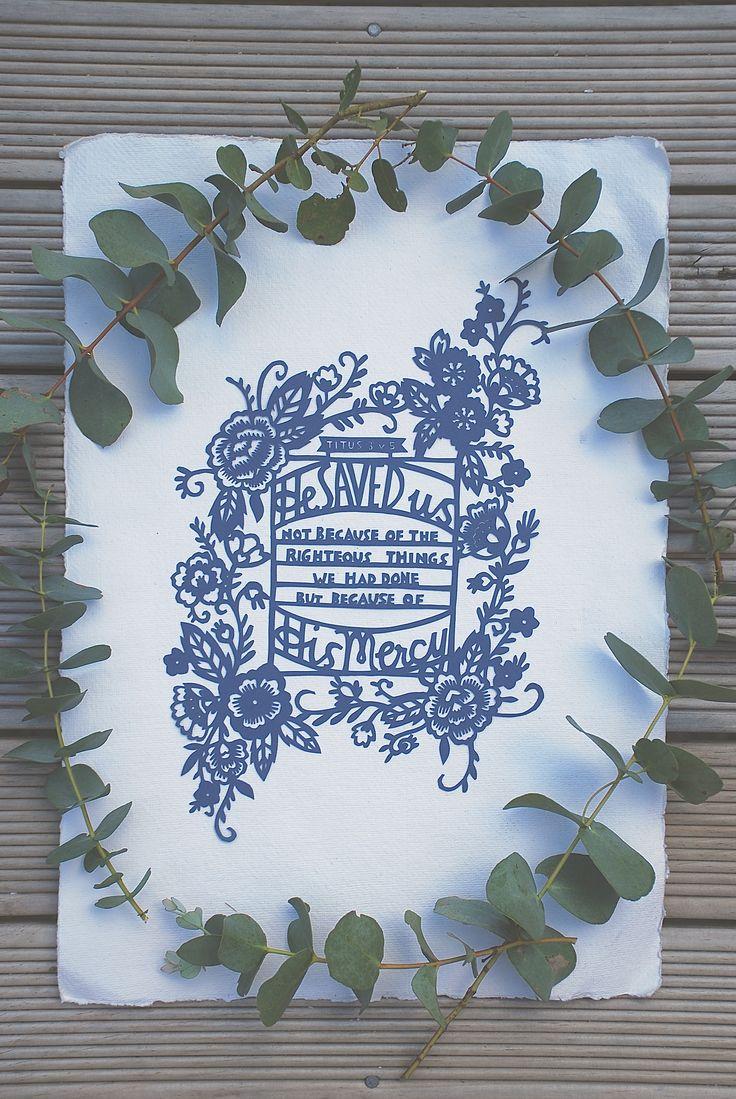 Delft florals papercut