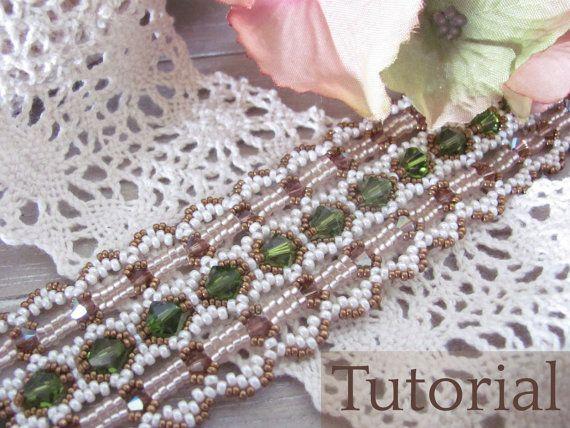 Tutorial+for+beadwoven+'Lace+Ribbon+Bracelet+'+от+TrinketsBeadwork